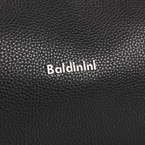 Косметичка Baldinini Brian из зернистой кожи черного цвета, фото