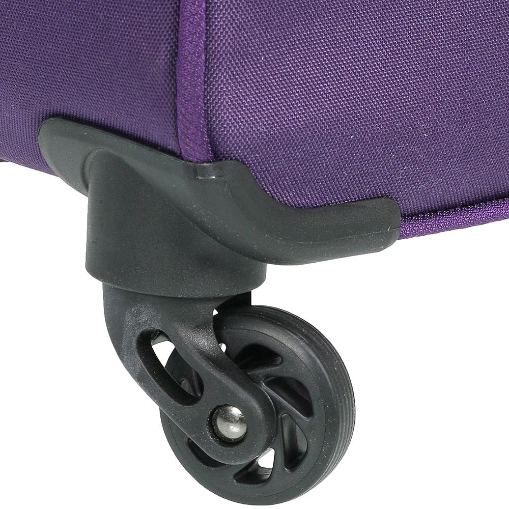 Большой фиолетовый чемодан 77х30х47см March Carter SE на молнии с телескопической ручкой