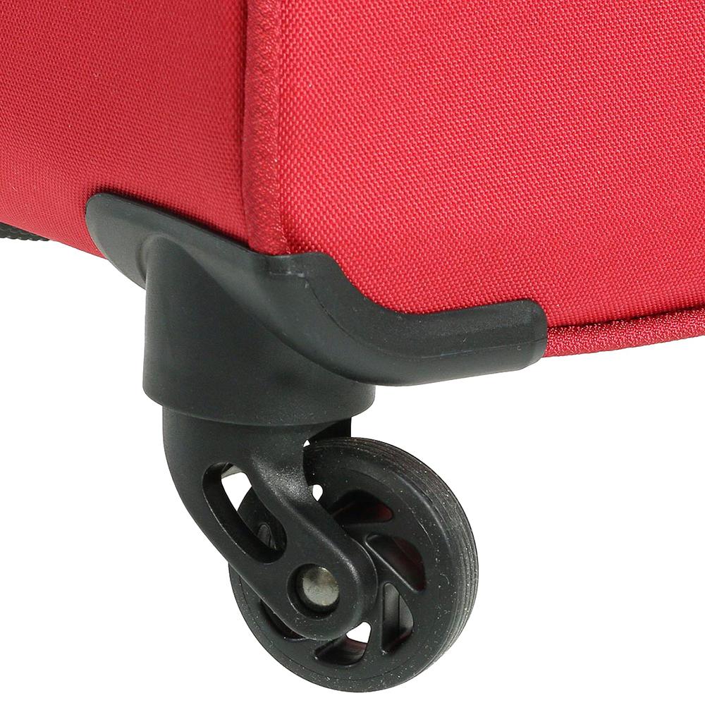 Среднего размера красный чемодан 67x42x27см March Carter SE с 4х колесной системой