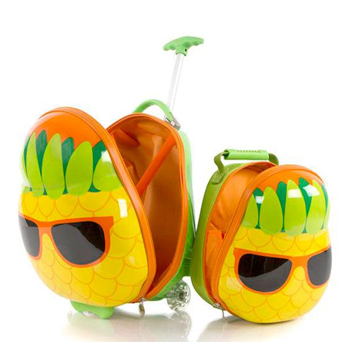 Детский набор Heys Travel Tots Pineapple из чемодана и рюкзака