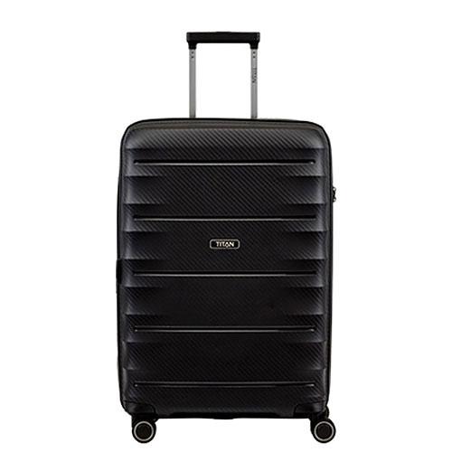 Большой чемодан 52x76x32см Titan Highlight черный