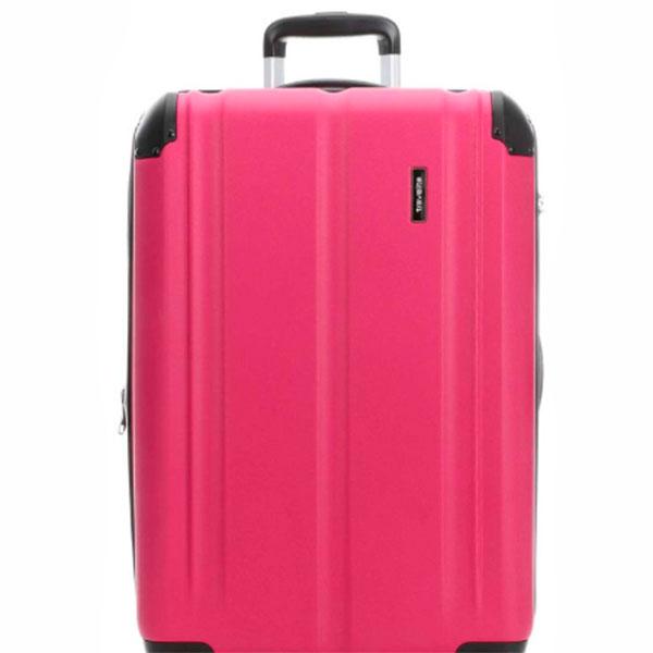 Чемодан на колесах Travelite City розового цвета 49x77x32см