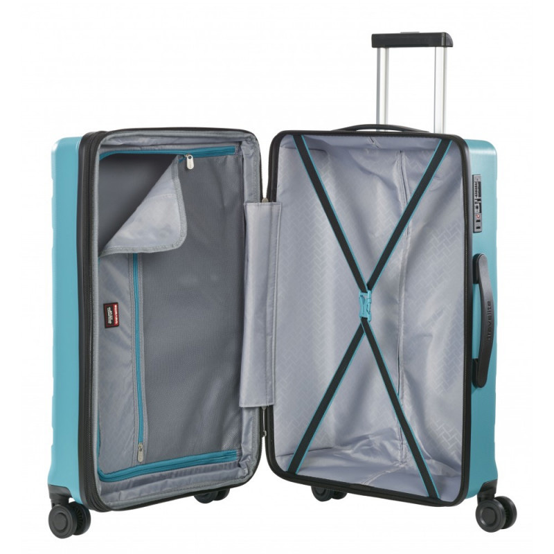 Средний чемодан 45x67x27-31см Travelite Kosmos с тележкой