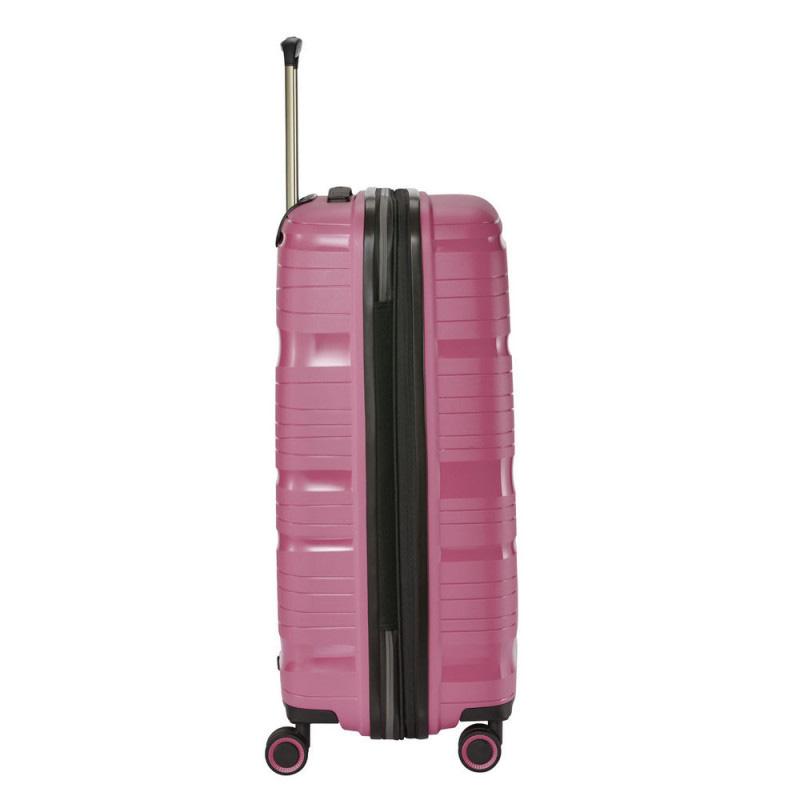 Чемодан на колесах 45x67x27см Travelite Motion розового цвета