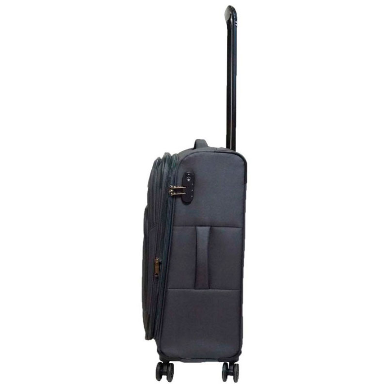 Черный чемодан Travelite Kendo 42x66x26/30см