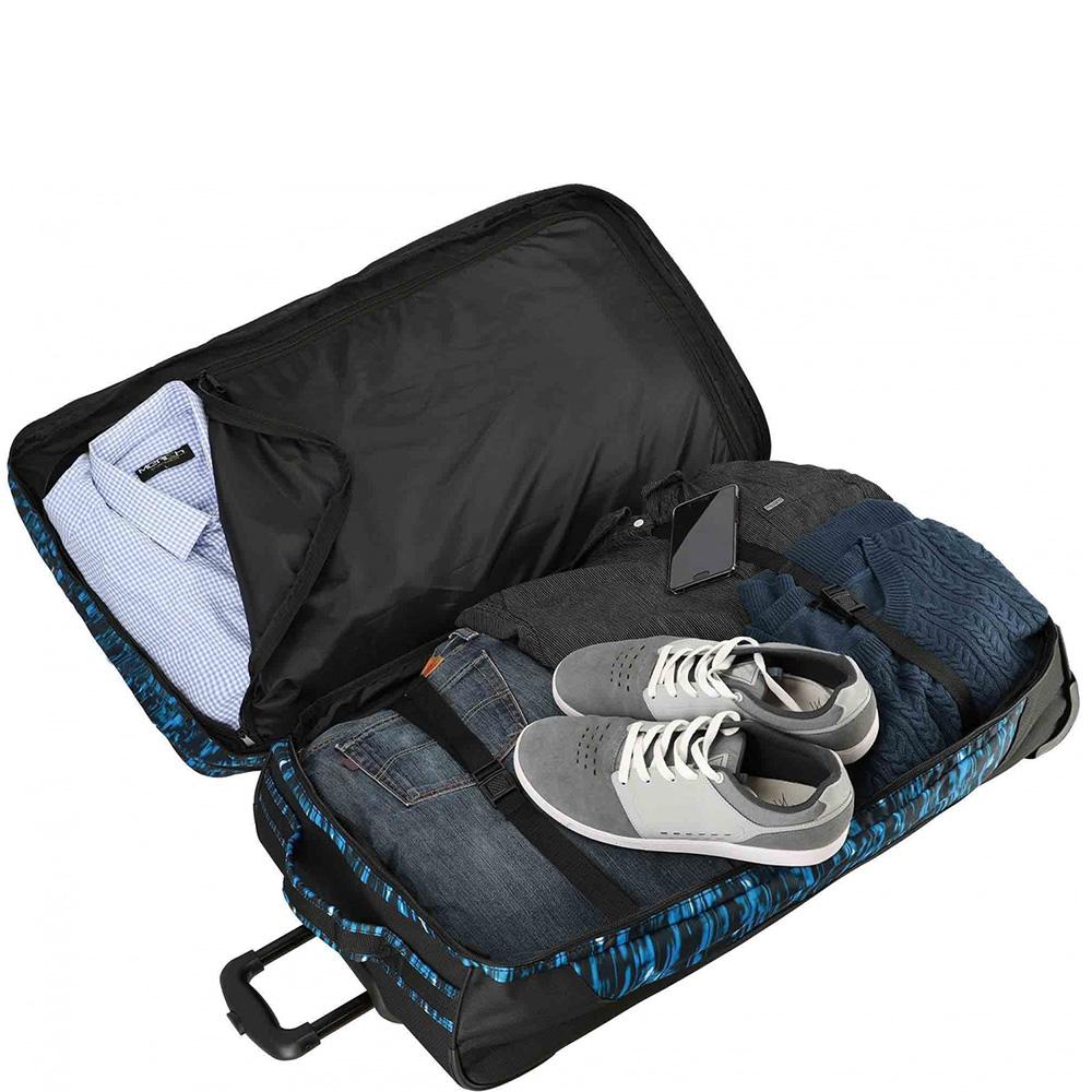 Дорожная сумка  на колесах 78x43x30-38см Travelite Basics синего цвета
