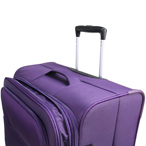 Большой фиолетовый чемодан 77х30х47см March Carter SE на молнии с телескопической ручкой, фото