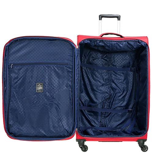 Среднего размера красный чемодан 67x42x27см March Carter SE с 4х колесной системой, фото