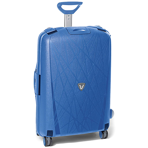 Синий чемодан 75х53х30см Roncato Light большого размера из полипропилена, фото