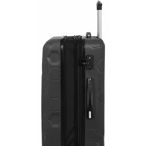 Черный чемодан IT Luggage Hexa Black 55х35х23см, фото