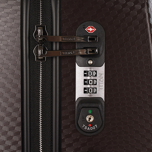 Темно-коричневый чемодан 67x46x28см Titan Xenon Deluxe с удобными мягкими ручками, фото