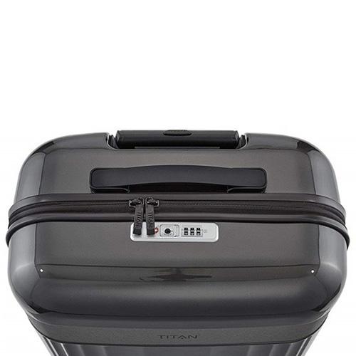 Пластиковый чемодан 40x55x20см Titan Spotlight Flash графитного цвета, фото