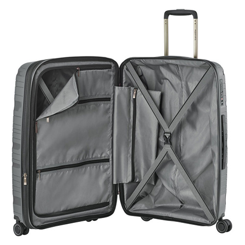 Чемодан средний 45x67x27см Travelite Motion серого цвета, фото