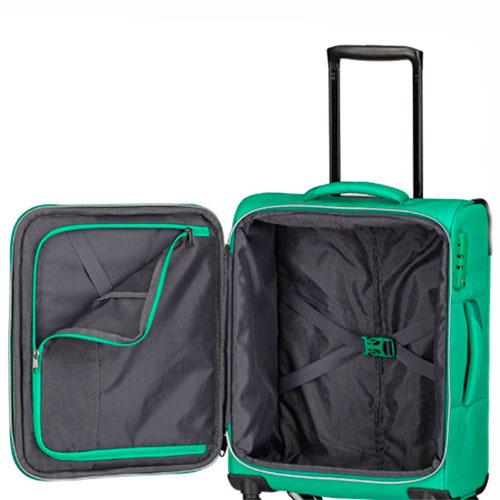 Зеленый чемодан Travelite Kite 47x75x29/33см на колесах, фото