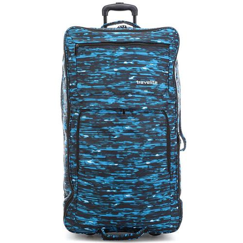 Дорожная сумка  на колесах 78x43x30-38см Travelite Basics синего цвета, фото