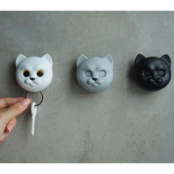 Ключница настенная Qualy Neko Cat серый кот
