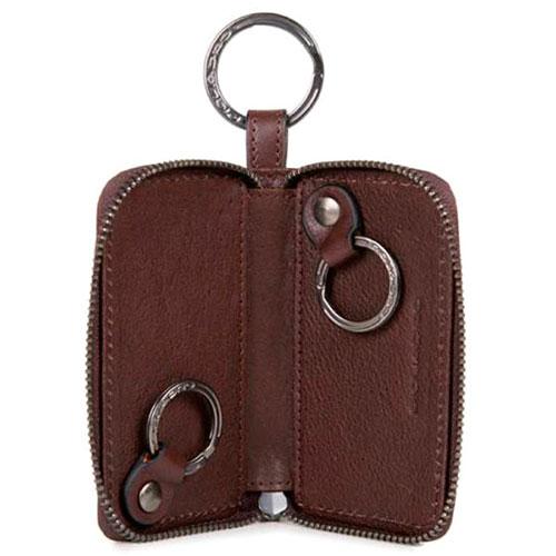 Ключница Piquadro Brief на молнии в коричневом цвете, фото