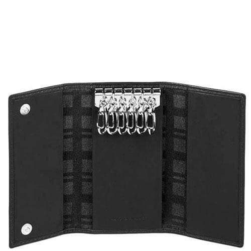 Ключница Piquadro Tag на 6 ключей черного цвета, фото