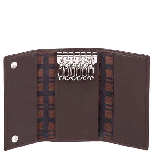 Ключница Piquadro Tag на 6 ключей коричневого цвета, фото