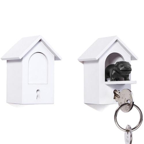 Ключница на стену Qualy Watch Dog с брелком, фото