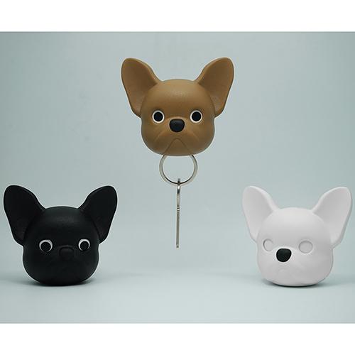 Ключница настенная Qualy Frenchy Dog коричневая собака, фото